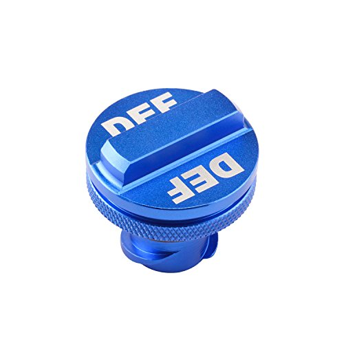(Shoppingsoon Aluminum Billet Exhaust Fluid Cap for Dodge Ram Cummins (2013-2017) with Blue DEF Auto Parts)