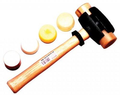 Garland Mfg Split Head Hammers, 2 in Dia., 14 in Handle, Rawhide (14 Rawhide Hammer)