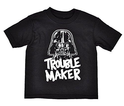 Star Wars Toddler Darth Vader Trouble Maker T-Shirt (Black, 4T)