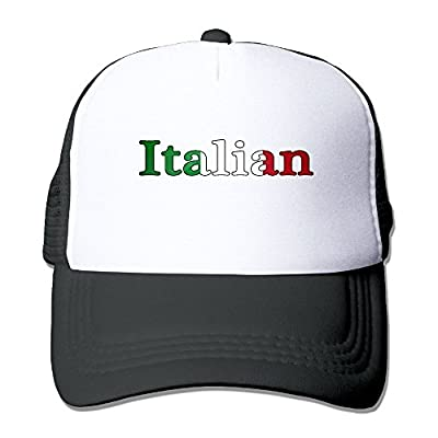 HAT-HAT Italian Flag Men's Women's Adjustable Snapback Hats Dad Hats | Baseball Caps Mesh Back