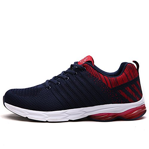 38 Fexkean Rouge Mesh Sneakers Fitness Course 45 Running Athlétique Outdoor Homme Sports de Chaussures Baskets grwqg7A