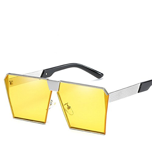 Fashion Couleur De Grand Lumineuse Verres lunettes C Cadre Hommes 70x1nn