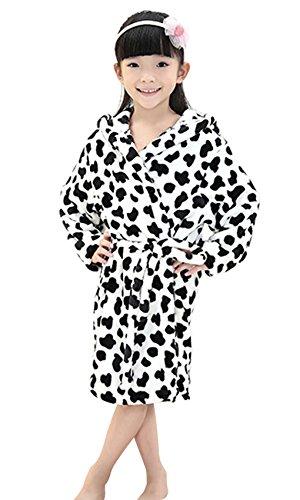 Girls Winter Fleece Hooded Pajamas