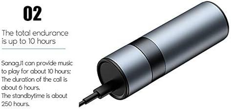Chennong TWSブルートゥースワイヤレス充電ケースステレオヘッドセット内蔵マイクヘッドセットプレミアムサウンド低音スポーツ用 (Color : Silver)