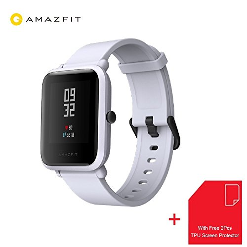 Amazfit Bip Smartwatch Xiaomi Huami GPS Real-time Heart Rate Monitor Bluetooth Sports Smart Watch [32g Ultra Light] [IP68 Water-Resistant] [45-days Standby] English Version (Sandstone Gray)