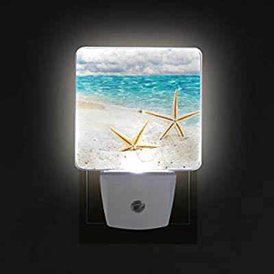Night Light Beach Starfish Fantastic Led Light Lamp for Hallway, Kitchen, Bathroom, Bedroom, Stairs, DaylightWhite, Bedroom, Compact