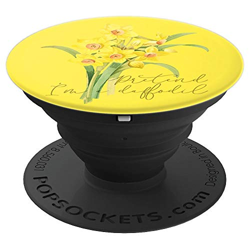 FUNNY LAZY HALLOWEEN COSTUME PRETEND I'M A DAFFODIL - PopSockets Grip and Stand for Phones and -