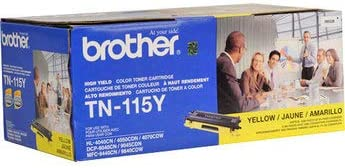 Yellow Toner Cartridge TN-115Y 4K YLD OEM TN115Y Brother Genuine Brand Name