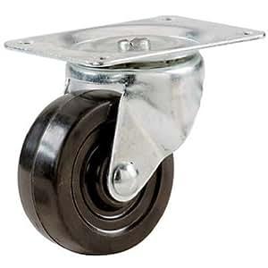 Shepherd Hardware 9489 1-1/2-Inch Rubber Swivel Plate Caster, 40-lb Load Capacity