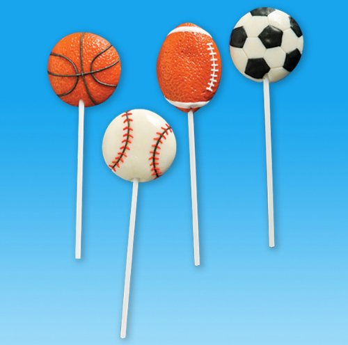 Shindigz Sport Ball Lollipops Dozen