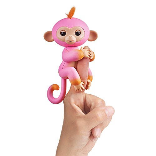 WowWee Fingerlings Baby Monkey Interactive Toy, Summer (Pink with Orange Accents)