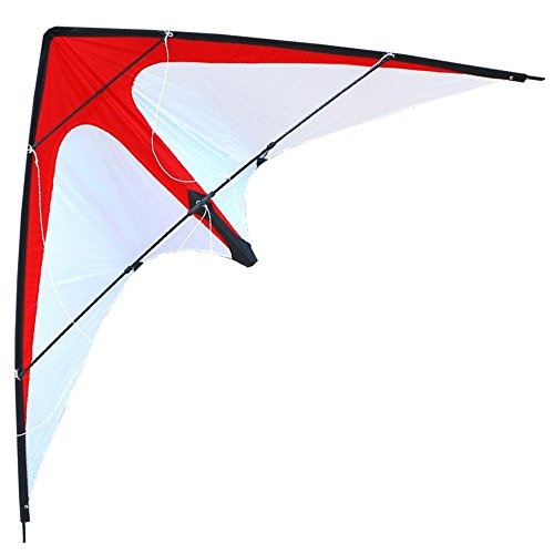 Hengda Kite-Red Arrow 48 Inch Dual Line Stunt Kite For Kids and Adults, outdoor sports,Beach and Fun sport kite,Handle,Line,and Bag included