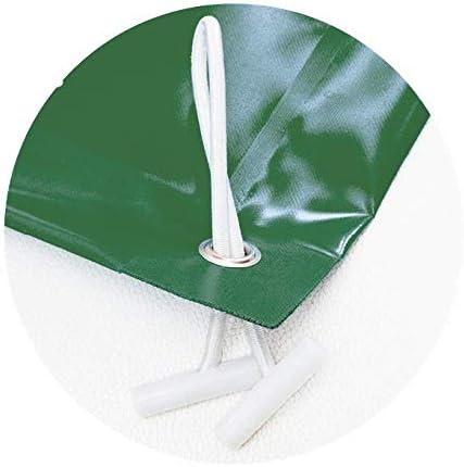 Cobertor de invierno para piscina 7,5 x 4,5m más 15 cm por cada lado para anclaje ( 7,8 x 4,8m) de color Verde (exterior) / Verde (interior) + Saco de Almacenaje de Regalo