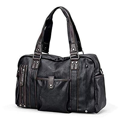 Bloomerang Ruil Fashion Crossbody Bags Men's Trend Briefcase Casual Leisure Soft PU Leather Shoulder Business Travel Handbags color Black