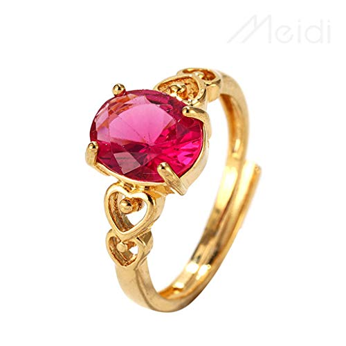 Qvwanle Wild Five-Petal Flower Rhinestone Ring Female for Gift (A, 8) ()