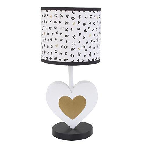 NoJo NoJo - XOXO - Lamp & Shade, Black, White, Gold