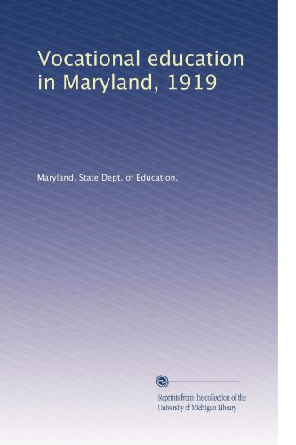 Vocational education in Maryland, 1919