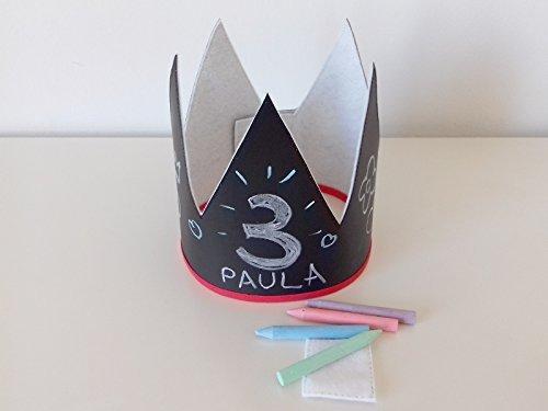 Corona de cumpleaños para niño y niña. ¡Personalízala a tu ...