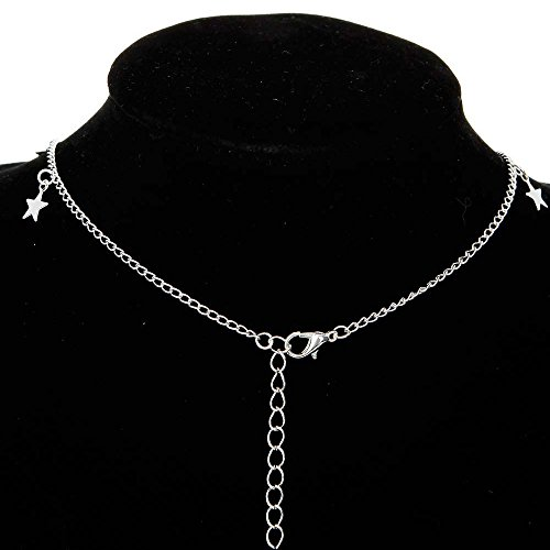 (Chokers Necklace, Simple Clavicle Necklace Multilayer Tone Tiered Chokers Necklaces for Women(Silver))