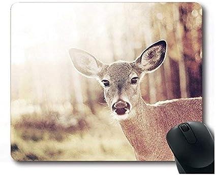 Yanteng Baby Deer Mouse Pad Gaming Alfombrilla para ratón Alfombrilla para ratón