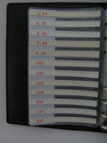 0201 SMD resistor assorted folder 106 value x 50pcs chip resistor booklet