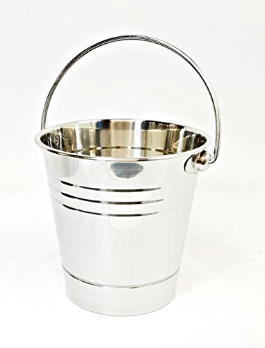 Bucket Drip - Metal Bucket for Grease with Grill/Smoker - Metal Pail W/Handle - 2 Quart