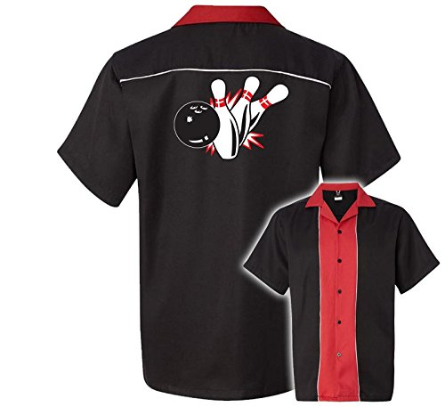 50's Style Bowling Shirt (Pin Splash B Stock Print on 50's Style Bowling Shirts)