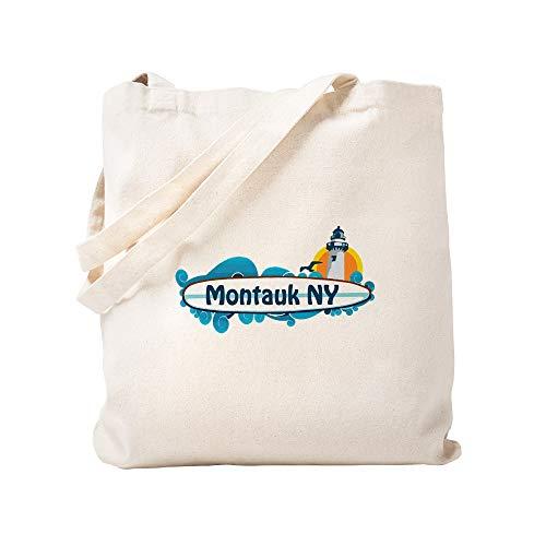 (CafePress Montauk Long Island. Natural Canvas Tote Bag, Cloth Shopping Bag)