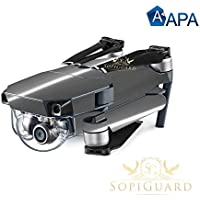 SopiGuard APA Chrome Black Precision Edge-to-Edge Coverage Vinyl Skin Controller Battery Wrap for DJI Mavic Pro