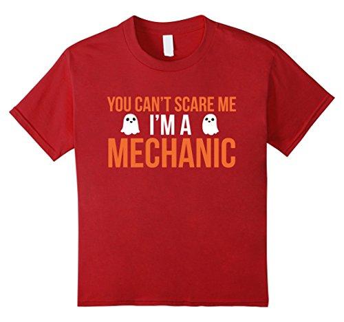 Kids Funny Car Mechanic Costume Tshirt - For Halloween Enthusiast 12 (Mechanic Girl Halloween Costume)