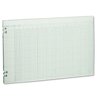 Accounting Sheets, 30 Columns, 11 x 17, 100 Loose Sheets/Pack, Green, Sold as 100 Sheet