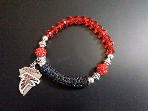 Atlanta Falcons Crystal Bracelet