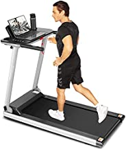 ANCHEER Treadmill for Home, Folding Treadmills with Desk and Bluetooth Speaker, Portable Electric Treadmill Ma
