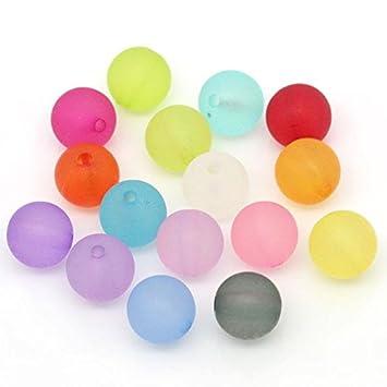 Pastellfarben Acrylperlen Kunststoffperlen 50 Stk - zufälliger Mix