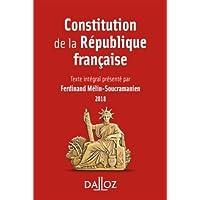 Constitution de la République française. 2018-15e éd.