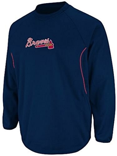 VF Atlanta Braves MLB Mens Majestic Authentic Therma Base Tech Fleece Navy Big & Tall Sizes (2XT)