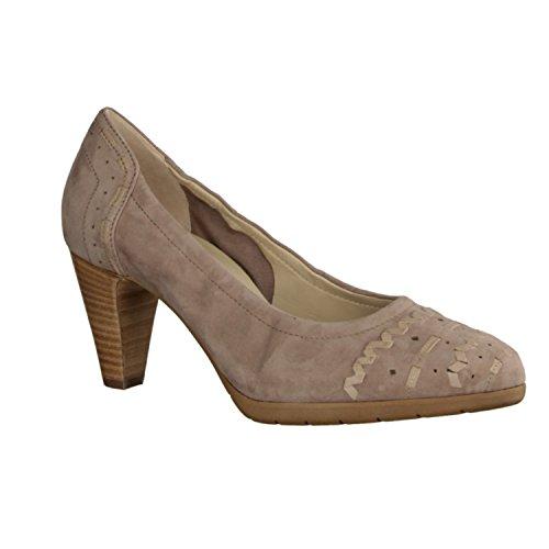 Högl 105532-690 - Zapatos mujer Moderno Zapatos de tacón / Bailarina, Beige, samtkid ( cuero ), altura de tacón: 55 mm
