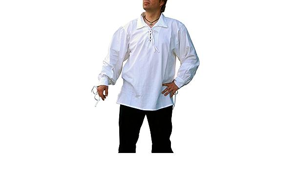 La edad media camisa/piratas camisa de algodón, colour blanco ...