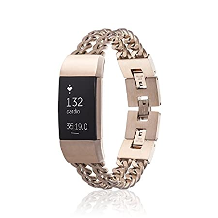 Amazon.com : fitjewels Charge 2 Band - Avila - Replacement Band, Available in Black, Silver, Gold and Rose Gold : Sports & Outdoors