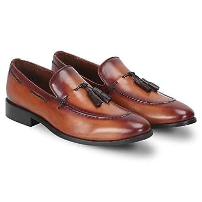 Brune Tassel Slip On Shoes for Men - Tan
