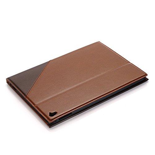 iPad Pro 9.7 Case, elecfan ® Ultra Dünn Leichtgewicht Book Stil Flip PU Leder Hülle Tasche Wasserdicht Case Smart Cover mit Standfunktion / Kartenfächer Anti Kratzer Schutzhülle für iPad Pro 9.7 (iPad Braun