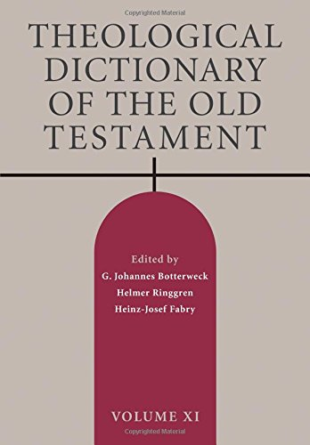 Download Theological Dictionary of the Old Testament, Volume XI pdf