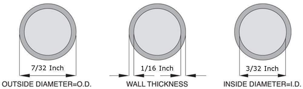 3//32 ID x 7//32 OD 5 Feet Silicone Tubing