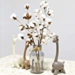 ClearanceCuekondy-21Inch-Naturally-Dried-Cotton-Stems-Branches-Artificial-Fake-Flowers-for-Indoor-Outdoor-Wedding-Party-Home-Office-Decor