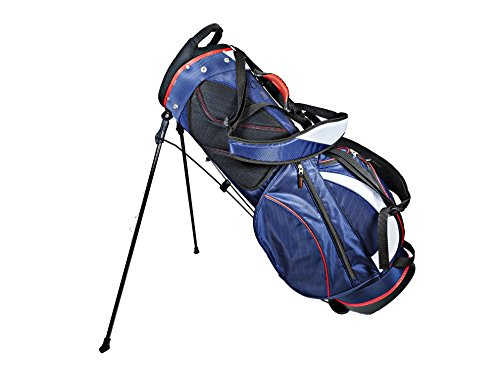 Club Champ Deluxe Stand Golf Bag, Red/White/Blue ()