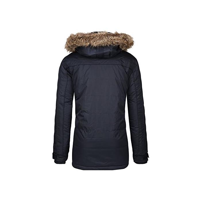 41FaPOY4RLL Gran comodidad, capucha y piel sintética extraíble. Transpirable, forro muy cálido. 100% Poliéster