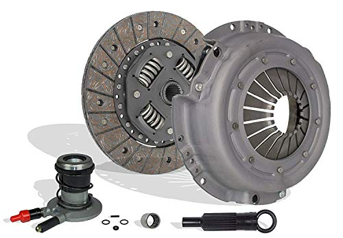 Clutch Kit And Slave works with Ford Ranger Bronco II Aerostar Custom S Sport STX XLT XL 1988-1992 2.9L 3.0L V6 GAS OHV 2.0L 2.3L L4 GAS SOHC Naturally -