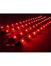 TOOGOO (R) 4 x 30cm Luz LED Impermeable Flexible para Coche - Rojo