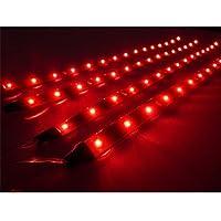 TOOGOO (R) 4 x 30cm Luz LED Impermeable