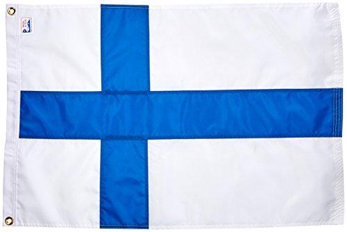 Us Flag Store Finland Nylon Outdoor Flag, 2-Feet by 3-Feet